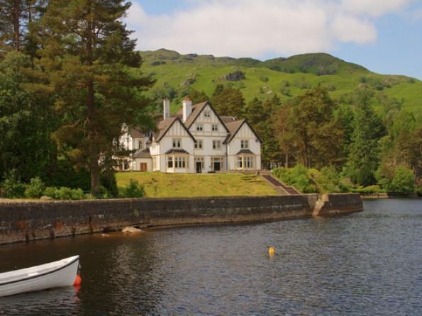 Lodge from Loch Katrine