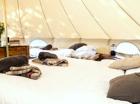 & Glampsite with 4 Bell Tents near Bath in England Wiltshire Winsley