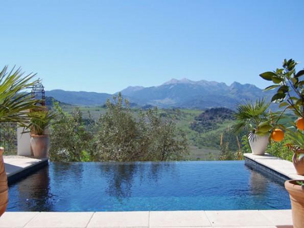2 bedroom designer villa with infinity pool in spain andalucia ronda dar hajra - Infinity pool europe ...