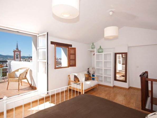Bedroom and sun terrace