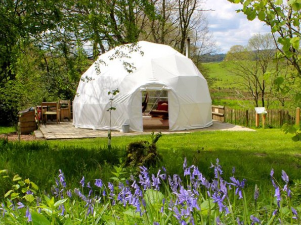 Geodomes and Tipis in Wales