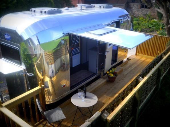 Aluminium caravan in Somerset