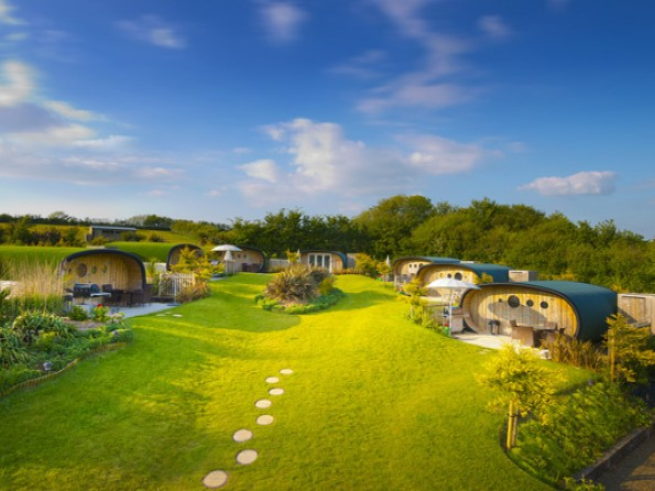 Eco pods in Cornwall