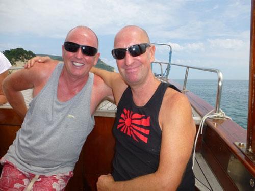 Bob and Ian at Casal dei Fichi