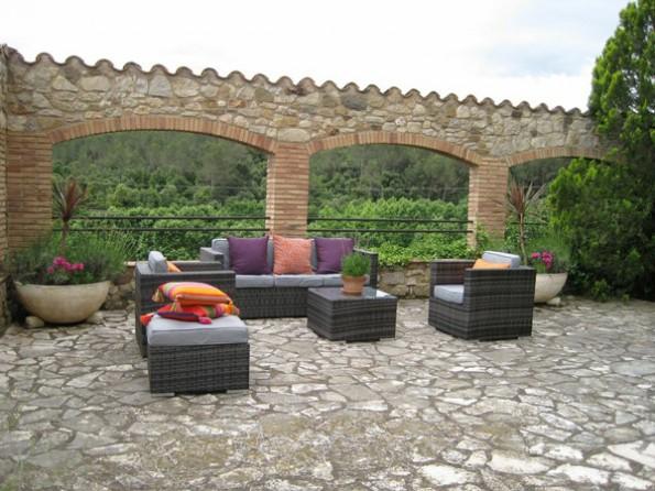 Castell de Celra terrace