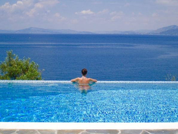 Beachfront villa in Greece