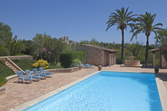 Swimming pool at Mallorcan farmhouse