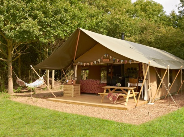 Luxury safari tents in Suffolk