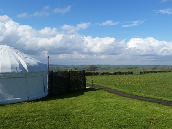 Yurts in the Peak District