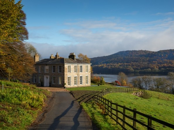 Manor house by Lake Windermere