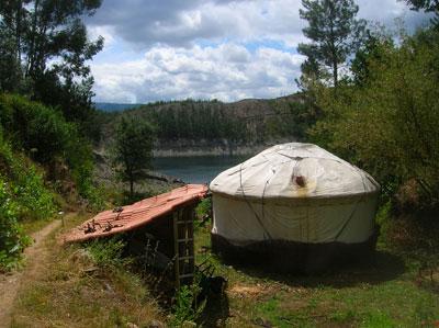 Lakeside yurt in Portugal