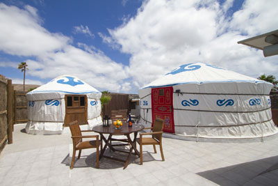 Beachfront yurt in the Canary Islands