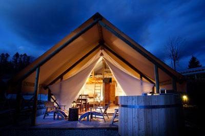 Safari tents in Slovenia