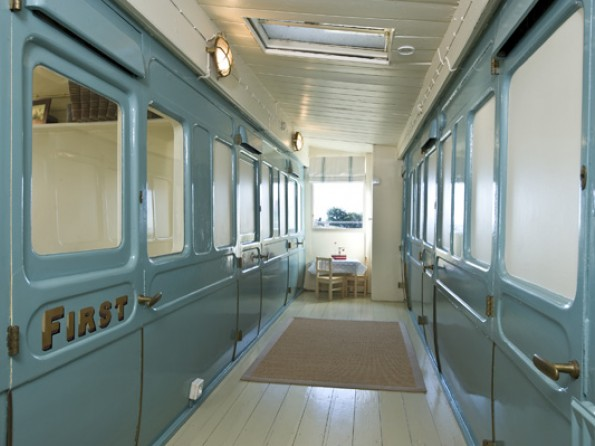 Converted train carriage