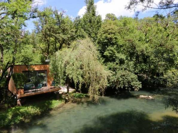Riverside cabin in France