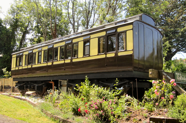 Train carriage conversion in Cornwall