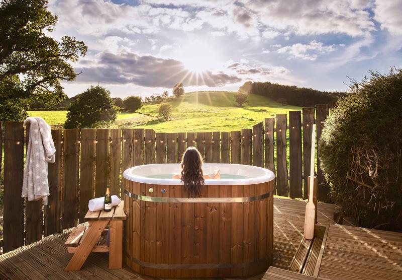 Hilside hot tub