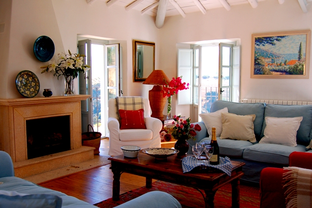 Drawing room in luxury Spanish finca